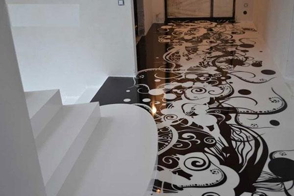 Декоративный пол в квартире