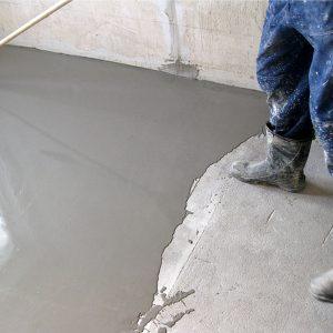 Наливной пол на цементной основе